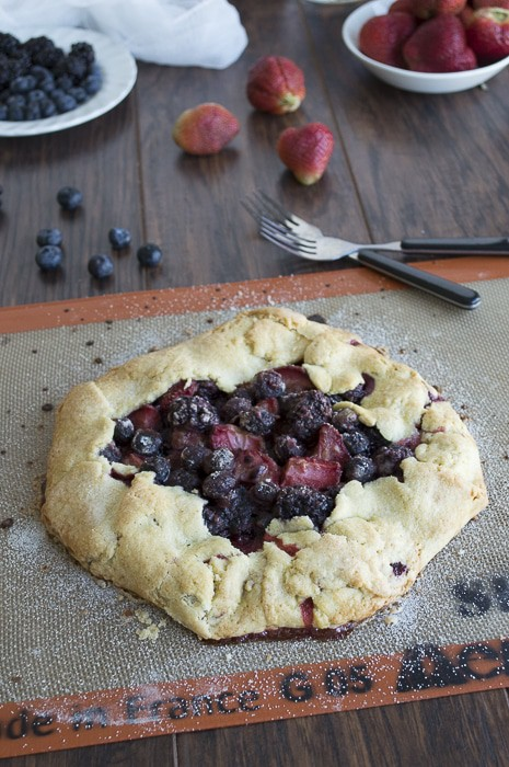 Out of the Pan Triple Berry Pie   thefirstyearblog.com