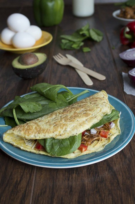 Southwest BBQ Chicken Omelet | thefirstyearblog.com