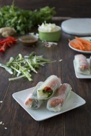 Vegetable Spring Rolls | thefirstyearblog.com