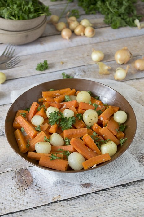 Carrot Salad with Pearl Onions and Parsley | thefirstyearblog.com