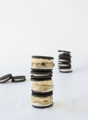 Cookie Dough and Peanut Butter Mousse Oreo Stacks | thefirstyearblog.com