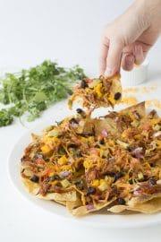 Mexican BBQ Chicken Nachos #shop #RollIntoSavings | thefirstyearblog.com