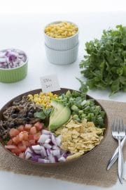 Chicken and Black Bean Taco Salad