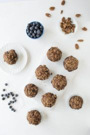 Low Fat Blueberry Nut Crunch Muffins