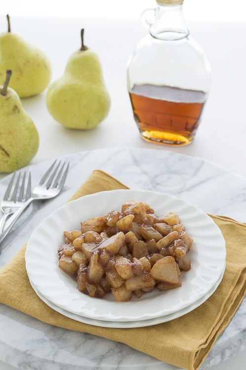 Maple Glazed Pears to put in oatmeal - takes 15 minutes to prepare, perfect for any fall morning.