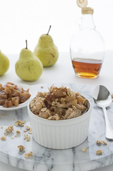 Maple Glazed Pear Oatmeal