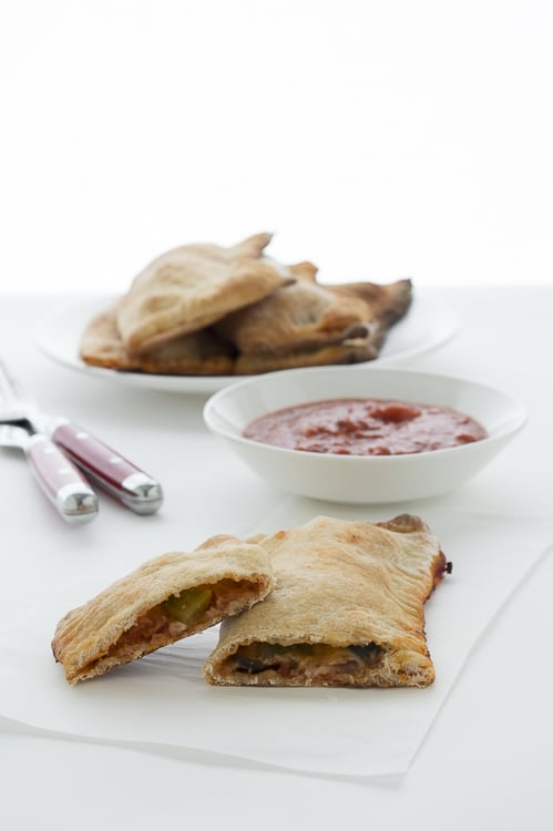 Mixed Vegetable and Pepperoni Calzones | thefirstyearblog.com