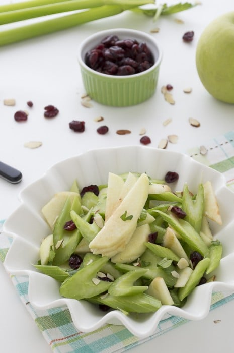 Green Apple and Celery Salad with Cranberries and Almonds