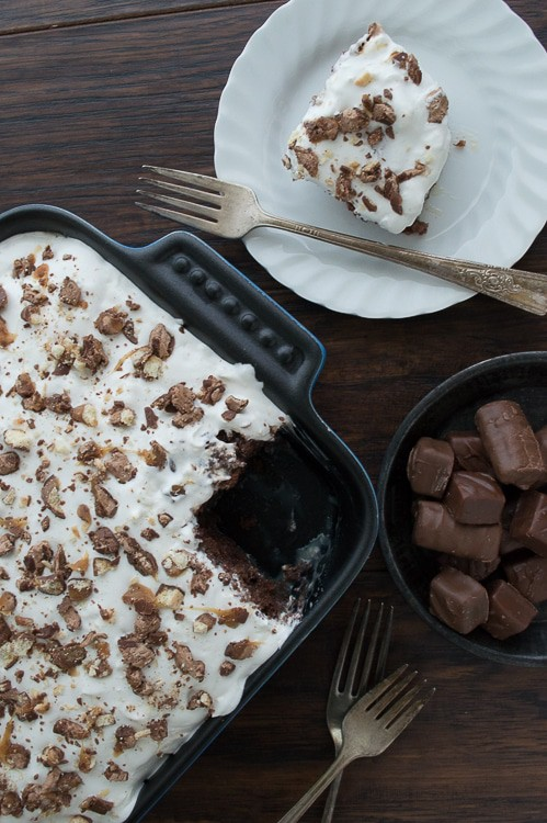 This is the ultimate recipe to help you use up that leftover halloween candy. It is remarkable!