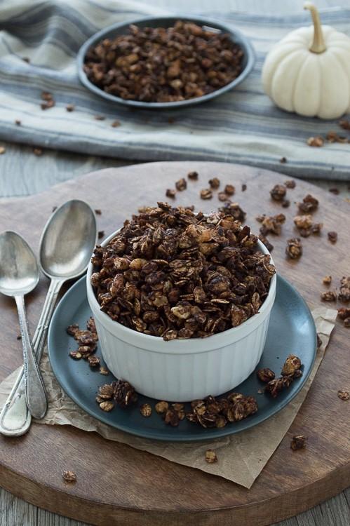 Pair this homemade granola with our 3 ingredient pumpkin yogurt!