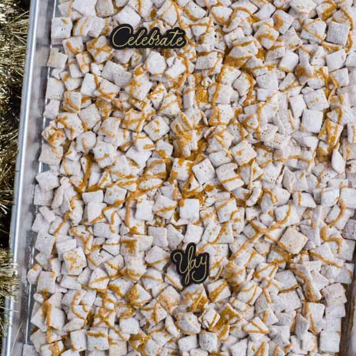 New Year's Eve White Chocolate Puppy Chow