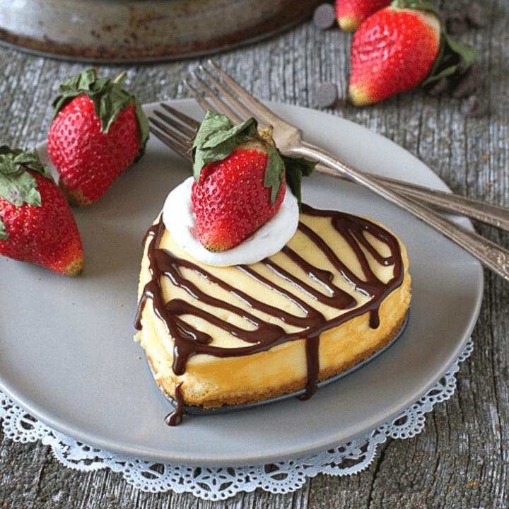 Heart Shaped Classic Cheesecake