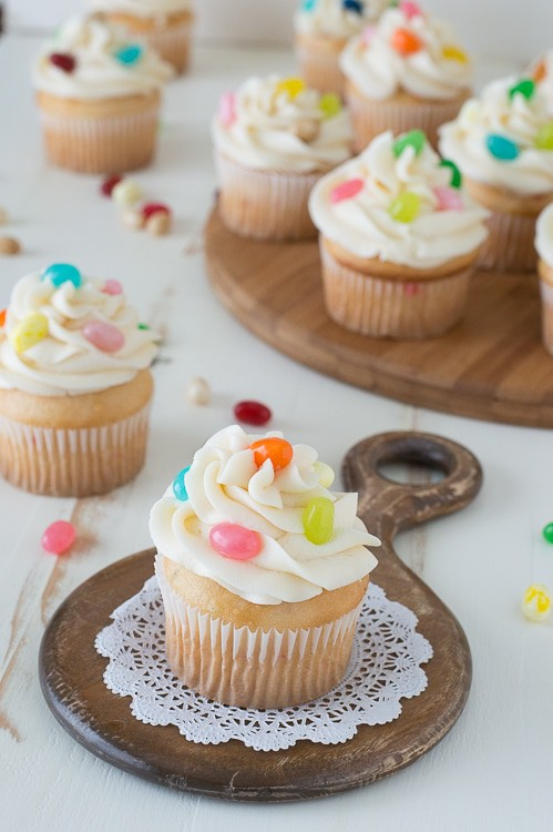Jelly Belly Jelly Bean Cupcakes - the ultimate jelly bean cupcake with Jelly Belly jelly beans!