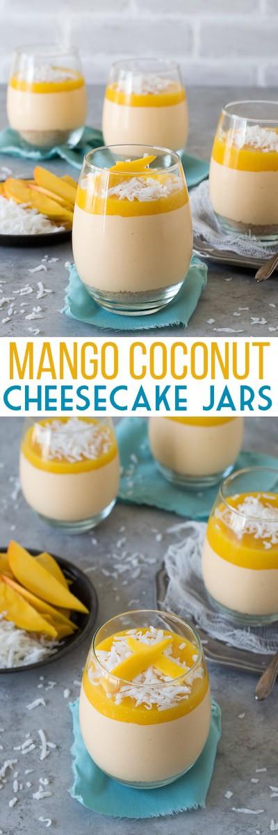 Mango Coconut Cheesecake Jars The First Year