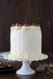 Maple Pecan Cake - 4 layer pecan cake with maple buttercream!