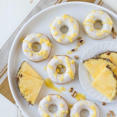 Pineapple Walnut Donuts