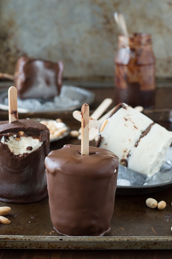 homemade version of Dairy Queen's buster bars! With homemade ice ...