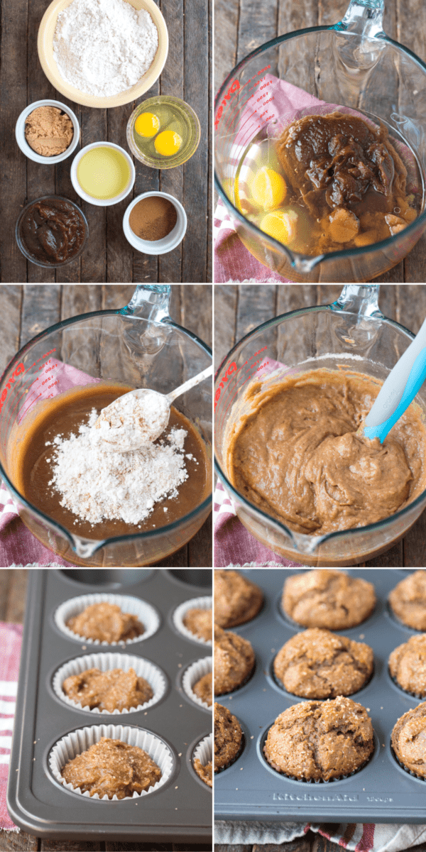 how to make apple muffins collage