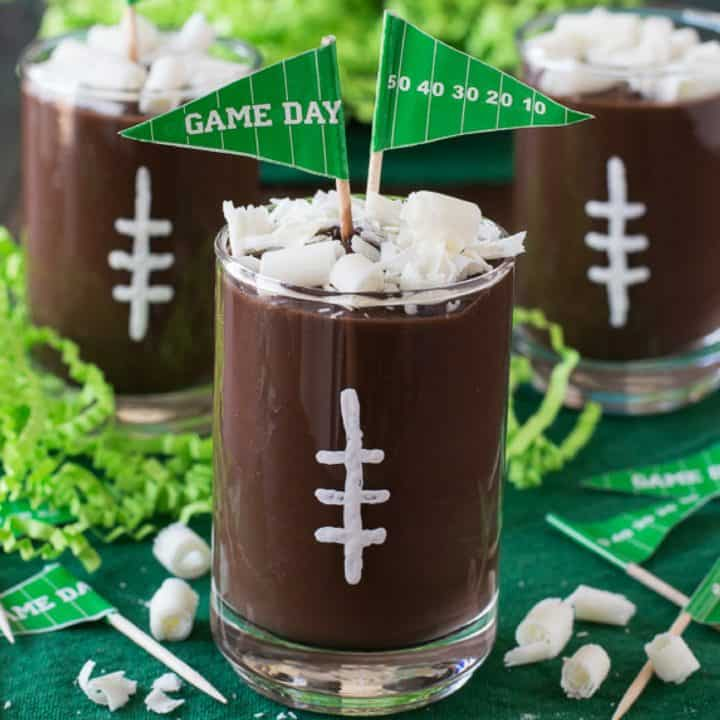 Football Pudding Cups