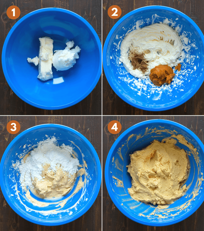 how to make pumpkin spice frosting collage
