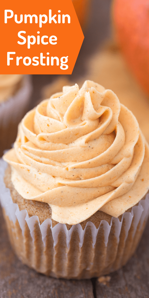 How to make pumpkin spice frosting / buttercream, with only 5 ingredients! #pumpkinfrosting #pumpkinbuttercream