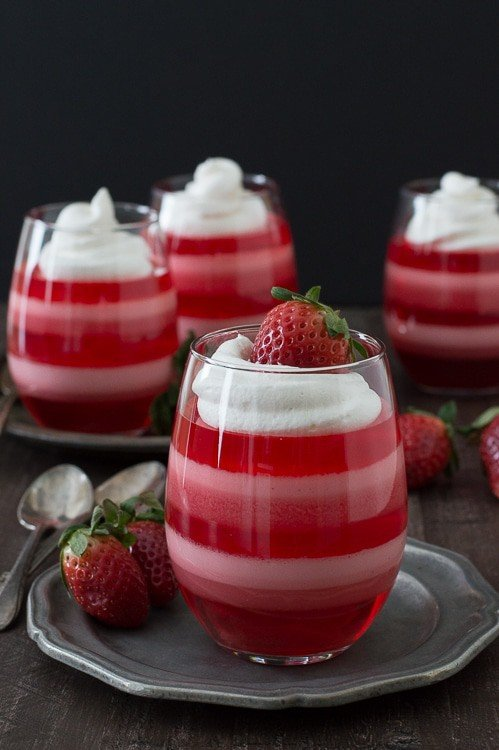 Strawberry Jello Cups