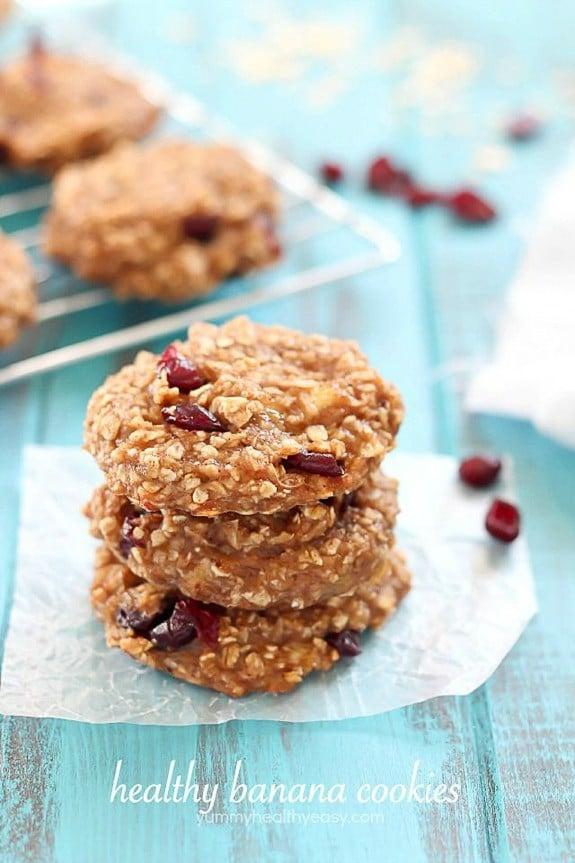 Healthy Banana Cookies | Yummy Healthy Easy