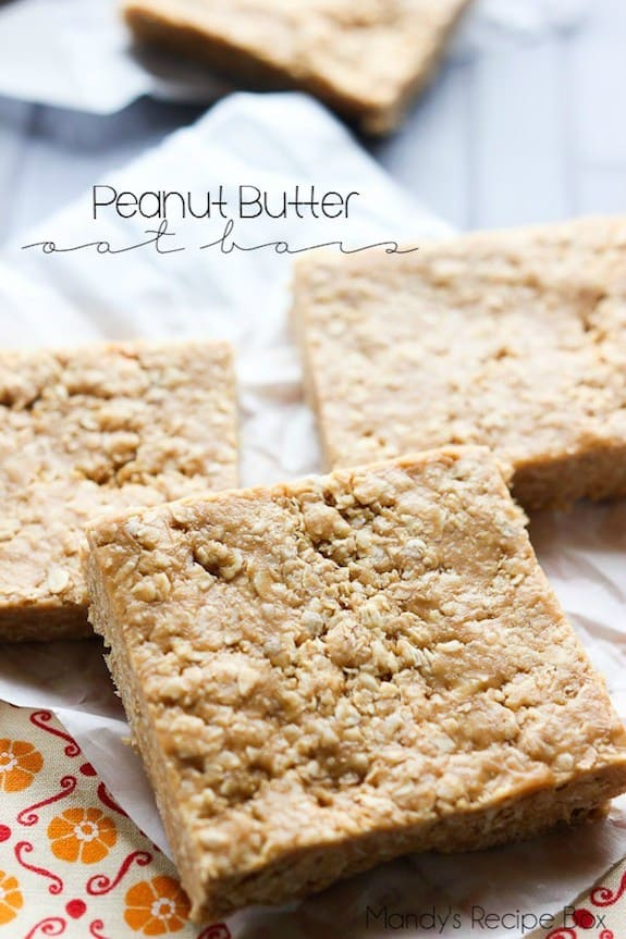 Peanut Butter Oat Bars | Mandy's Recipe Box