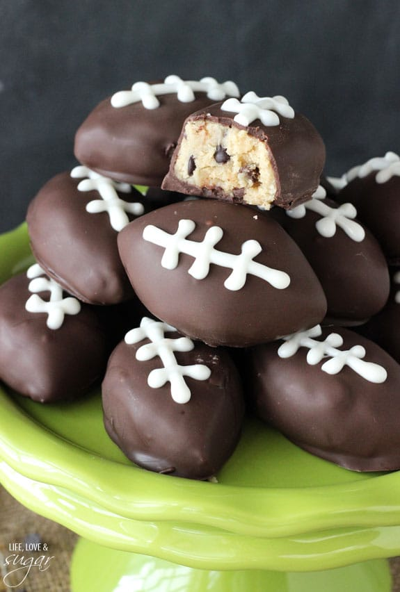 Cookie Dough Footballs | Life Love and Sugar