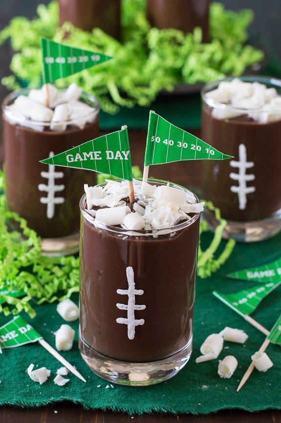 Football Pudding Cups | The First Year