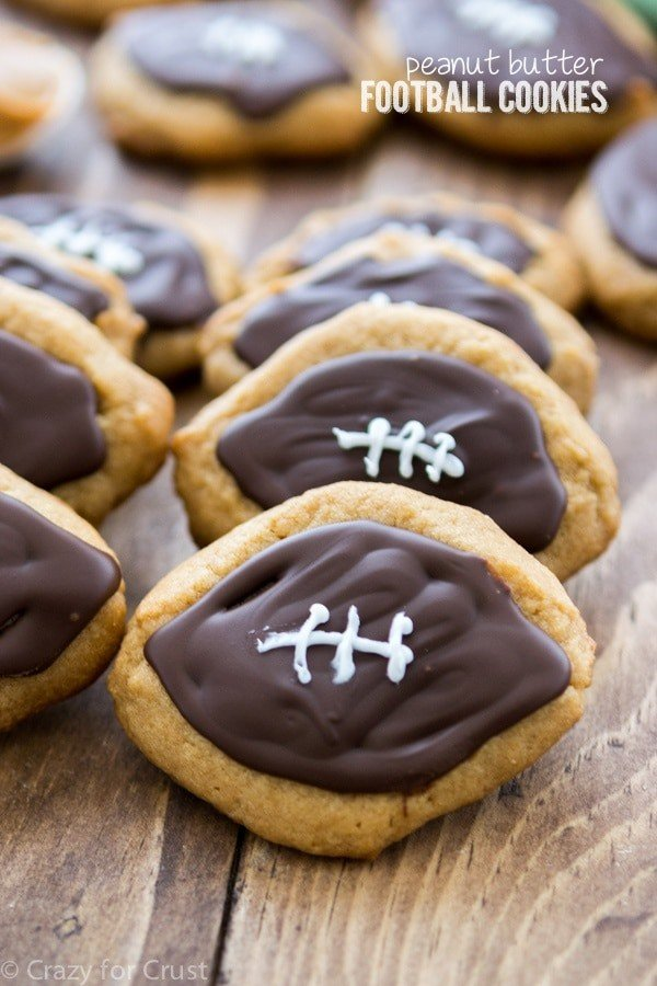 Peanut Butter Football Cookies | Crazy For Crust