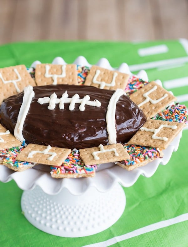 Football S'mores Brownie Batter Dip | Chelsea's Messy Apron