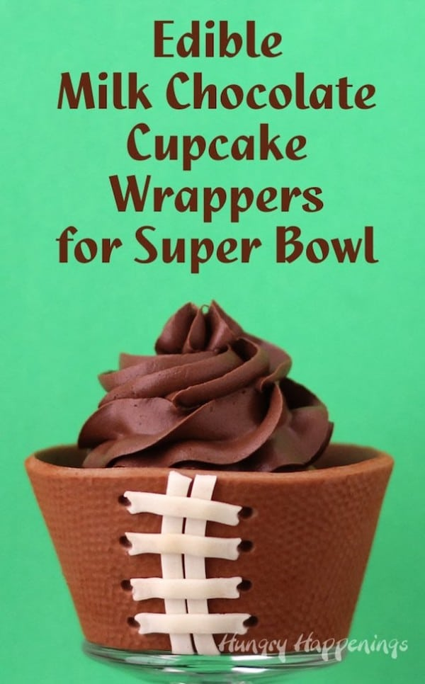 Football Cupcakes with Edible Cupcake Wrapper | Hungry Happenings