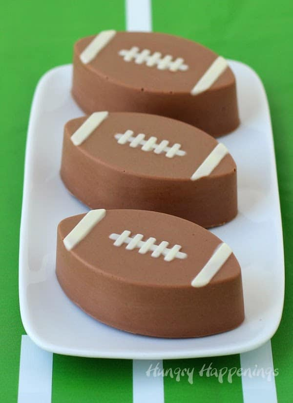 Reese's Fudge Footballs on a Serving Platter