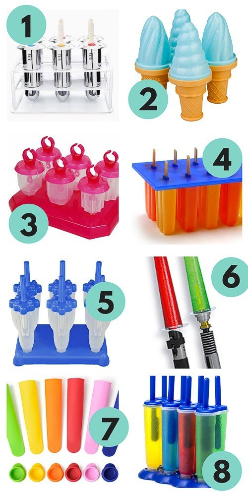Fun popsicle molds plus a recipe for rainbow popsicles!