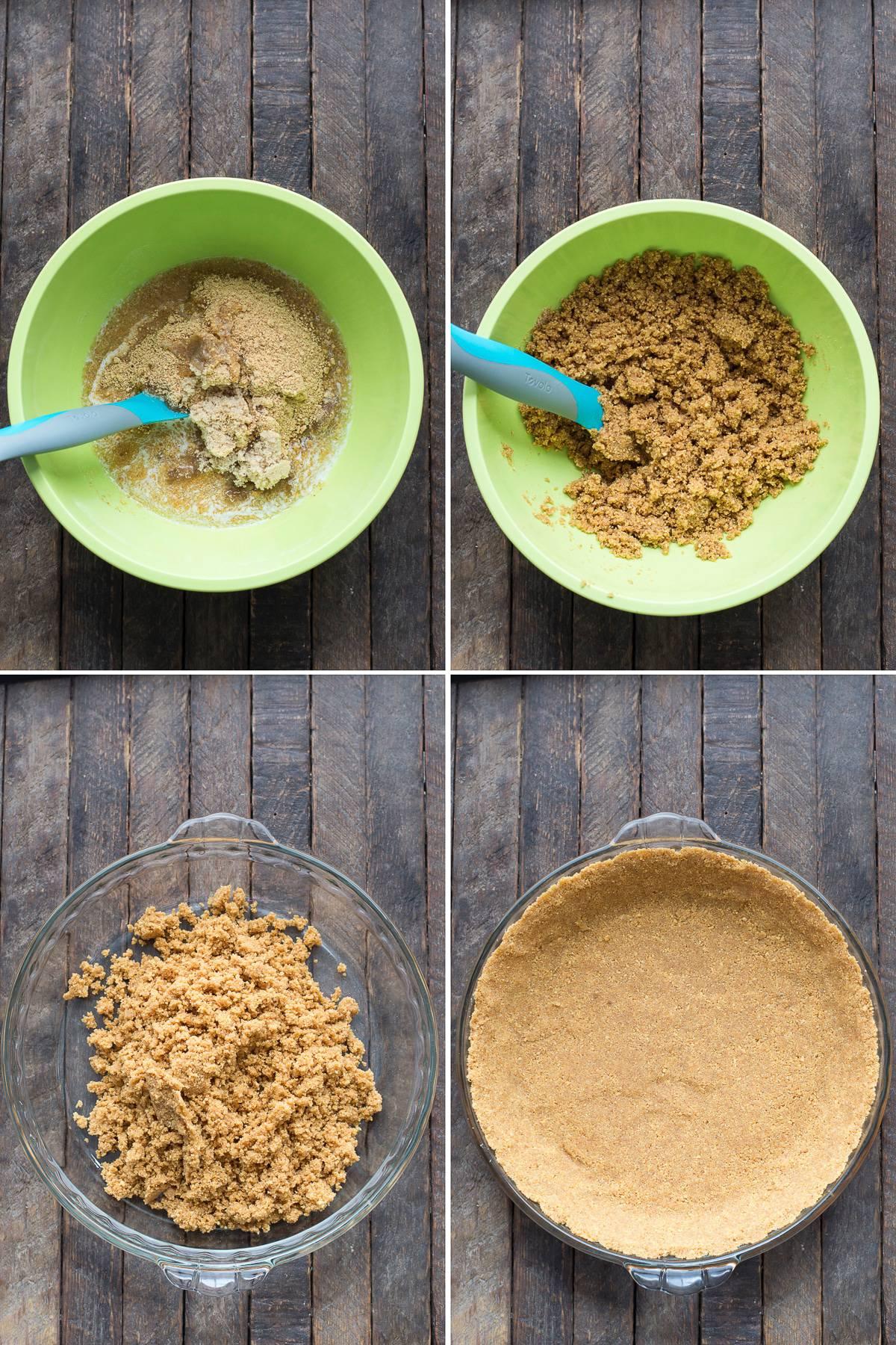 Homemade graham cracker crust - 3 ingredients!