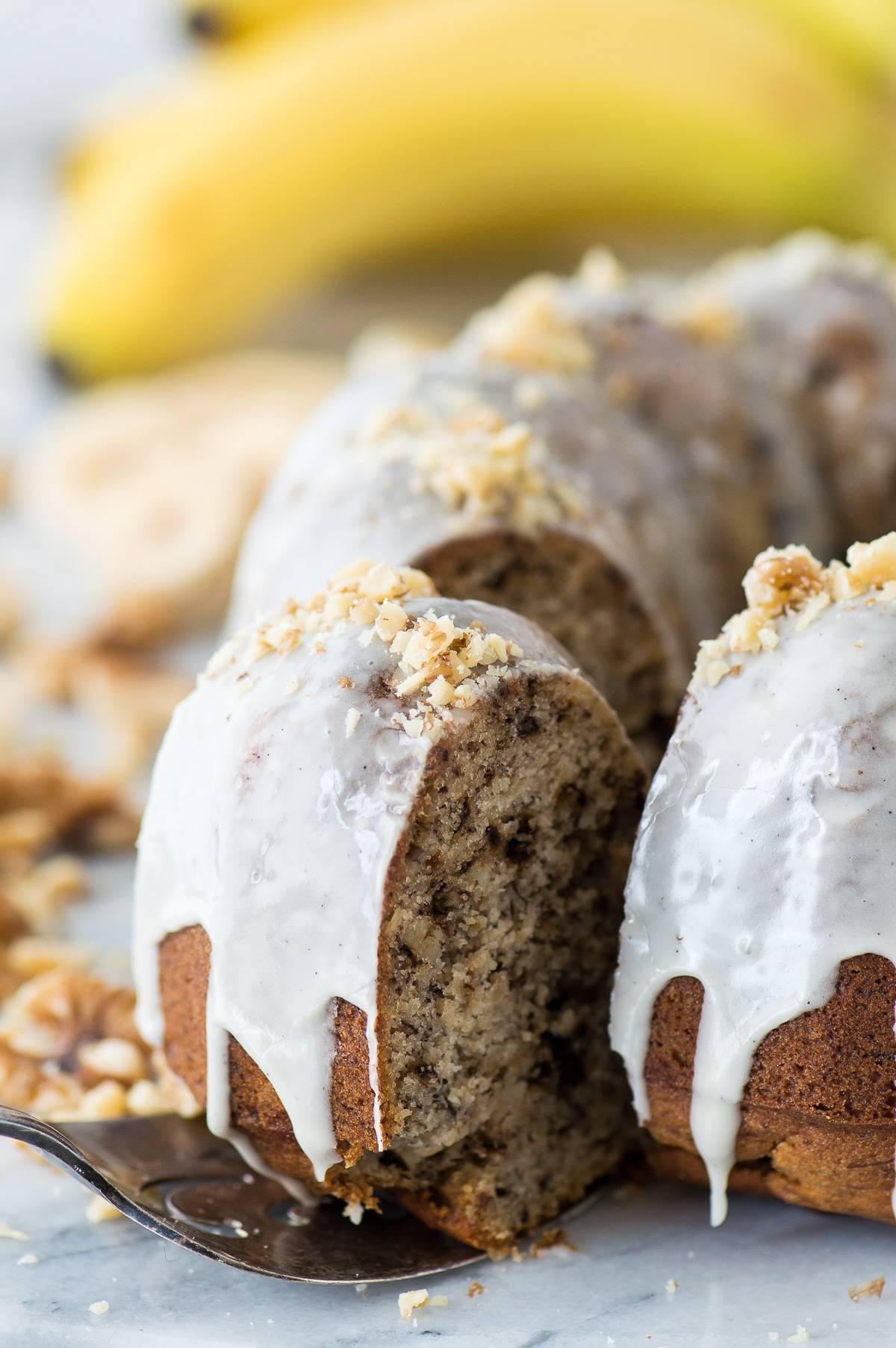 Banana Nut Bundt Cake First