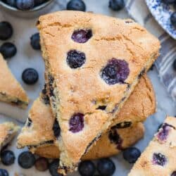 Fresh blueberry scone recipe ready in 40 minutes!