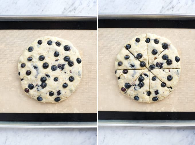 how to shape and cut scones collage