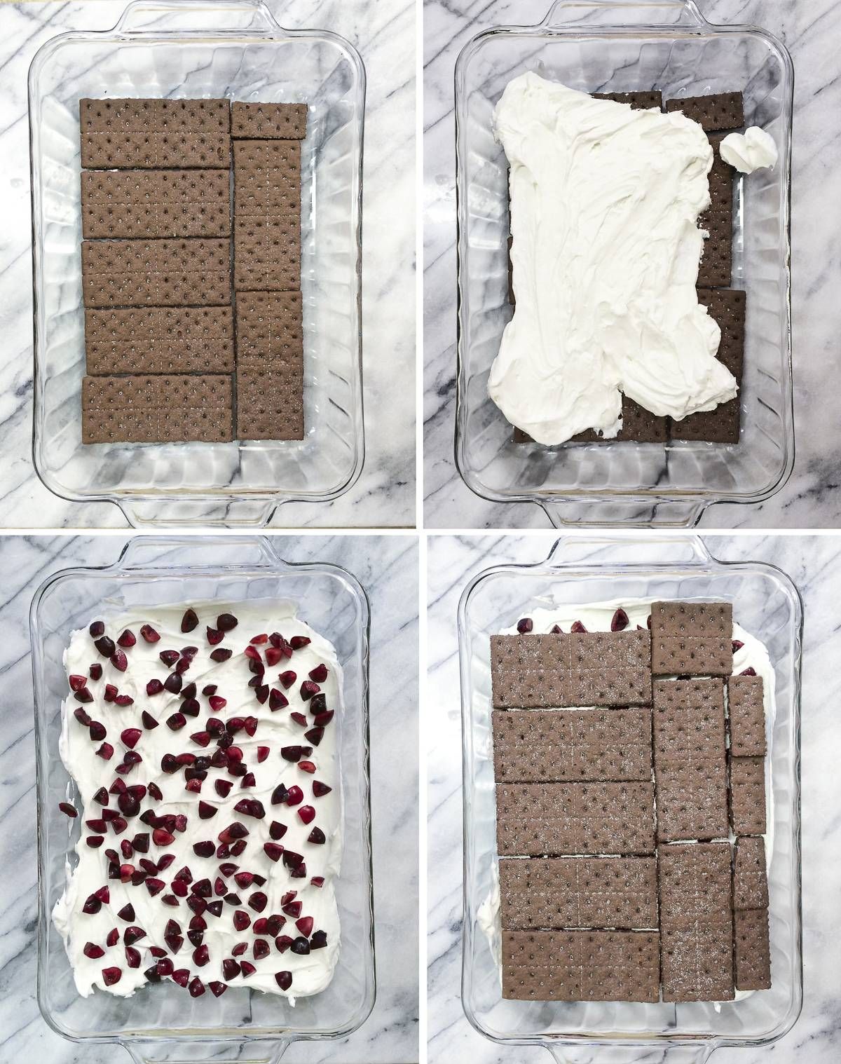 Black Forest Icebox Cake recipe with 5 easy ingredients including real cherries!