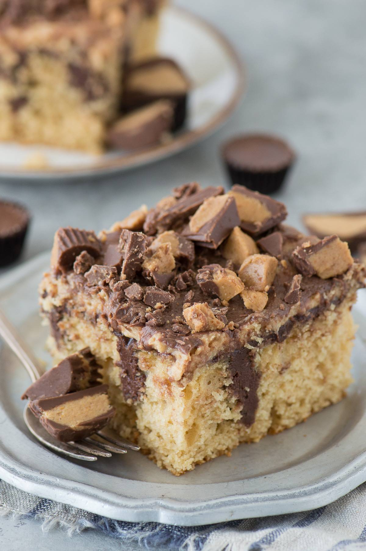Peanut Butter Chocolate Poke Cake The First Year