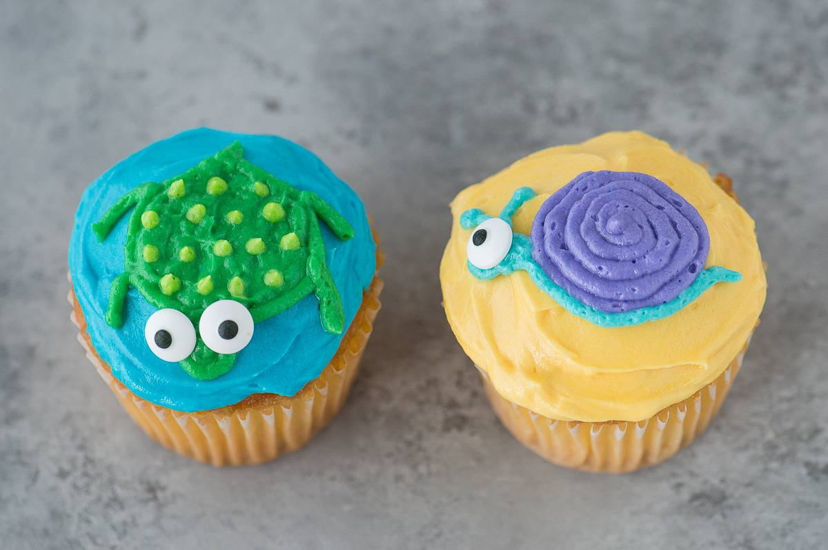 Turtle And Snail Cupcakes The First Year