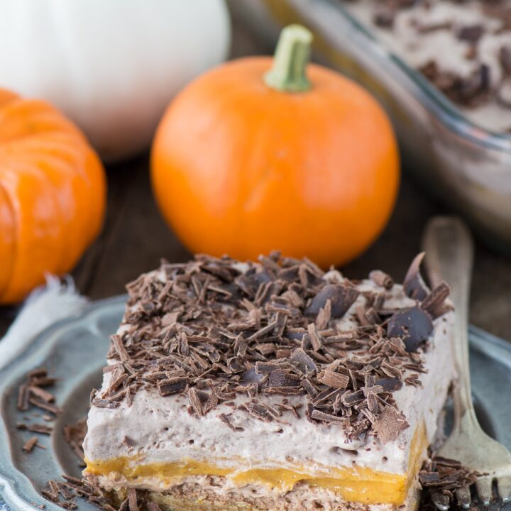 Chocolate Pumpkin Dessert Lasagna