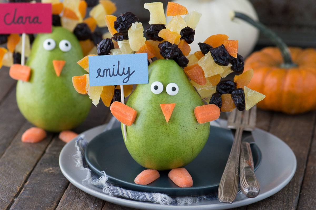 Edible Thanksgiving Turkey Place Card Or Centerpiece