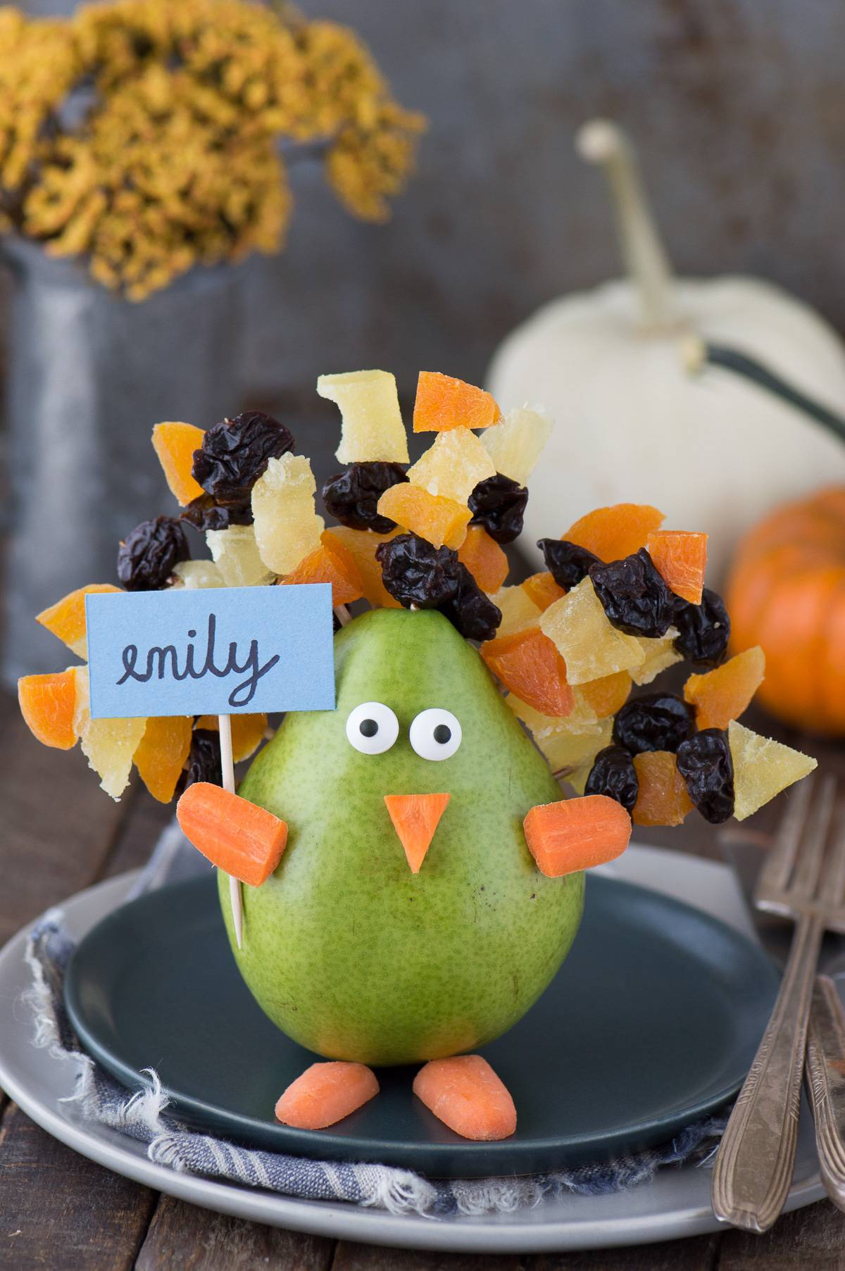 Edible Thanksgiving Turkey Place Card Or Centerpiece The