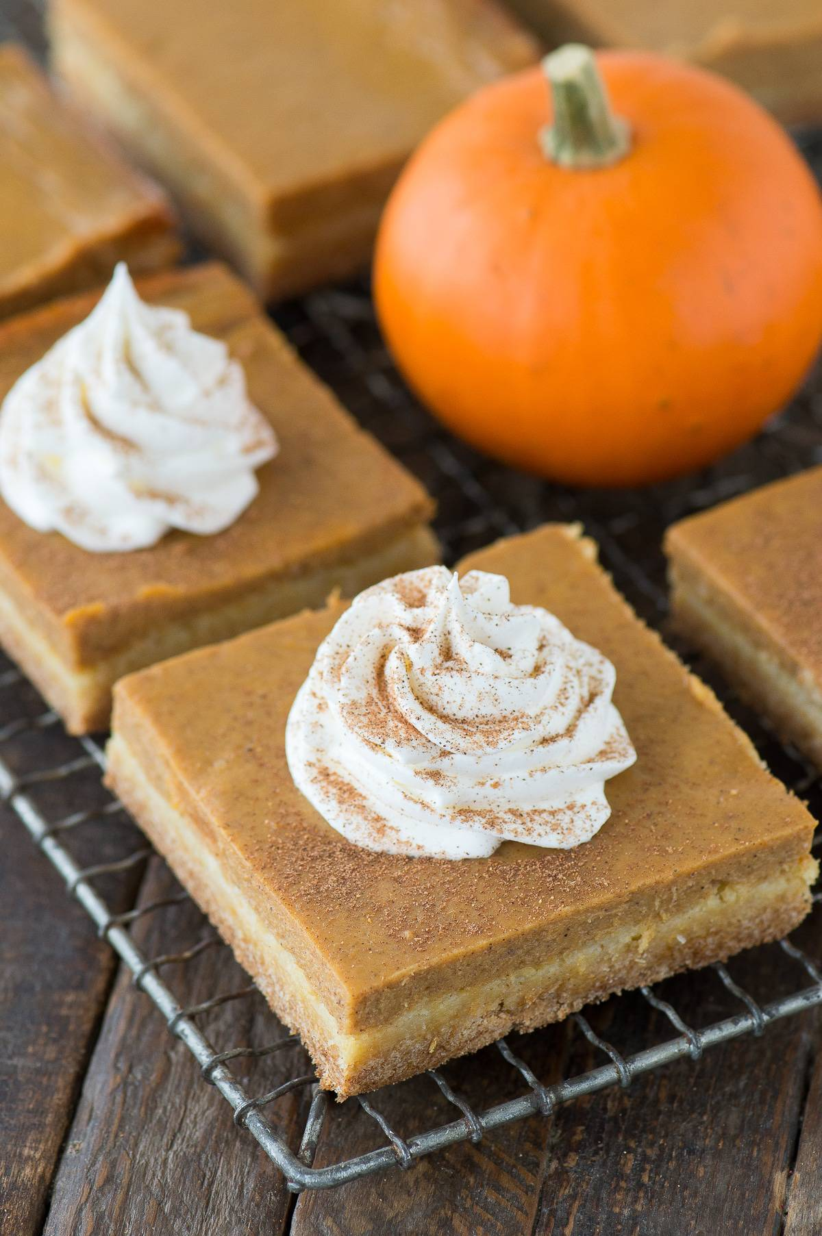 Pumpkin Bars Made From Cake Mix