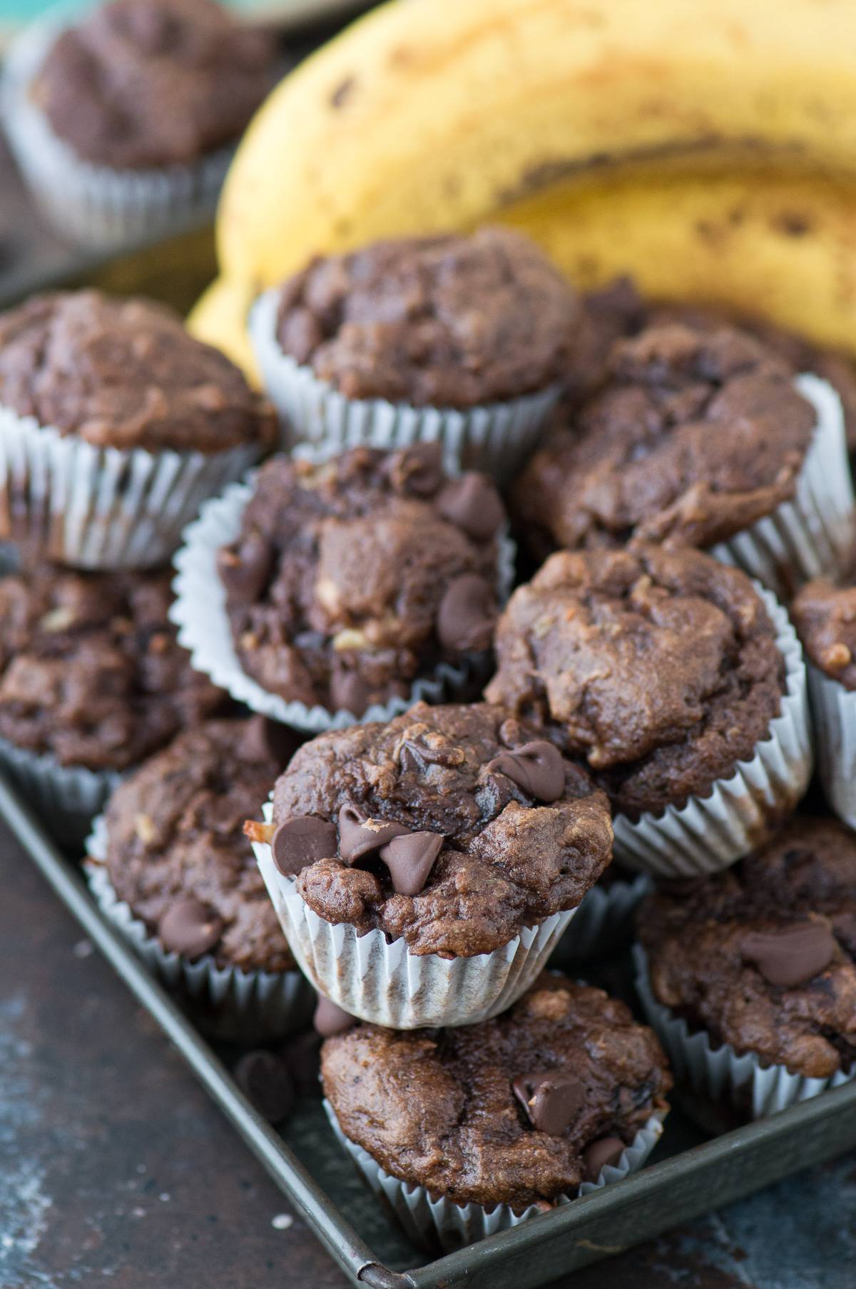 Healthier Chocolate Mini Muffins | The First Year