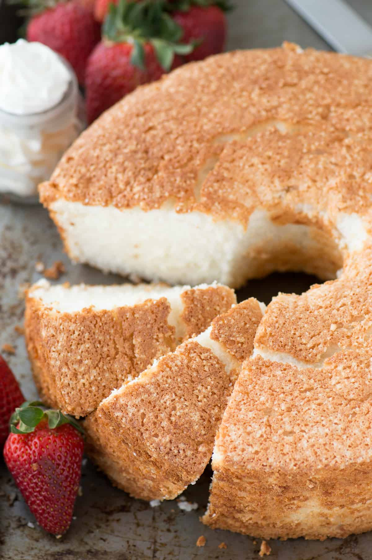Homemade Gluten Free Angel Food Cake Recipe