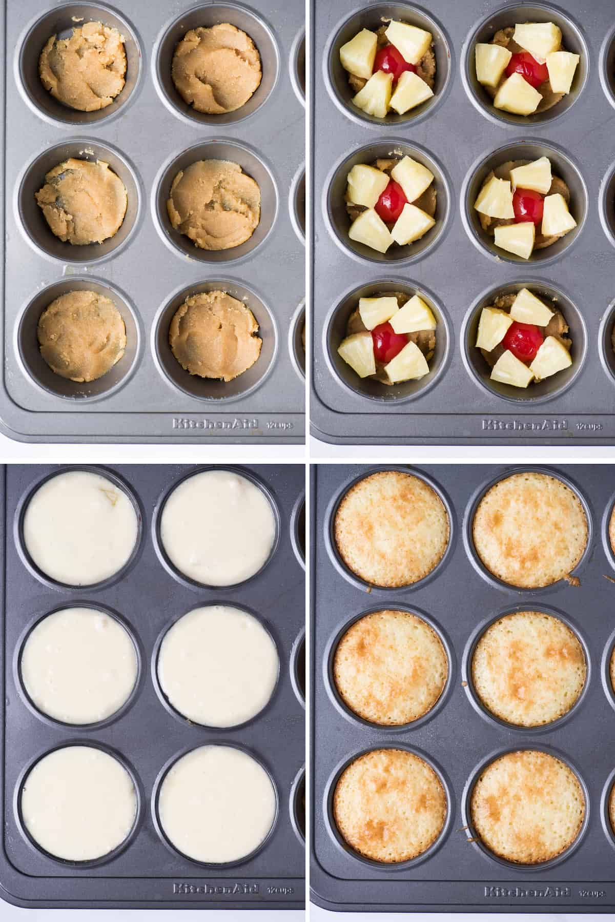 how to make pineapple upside down cupcakes in muffin pan