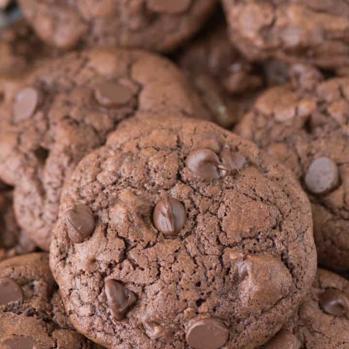 Triple Chocolate Drop Cookies